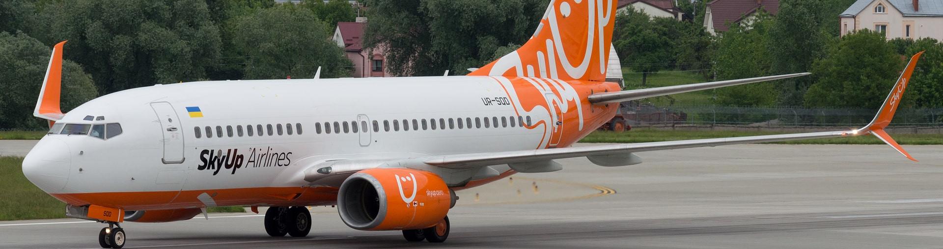 Рейси SkyUp стануть дешевшими і екологічнішими. Компанія першою в Україні встановила систему Split Scimitar® Winglets на літаки
